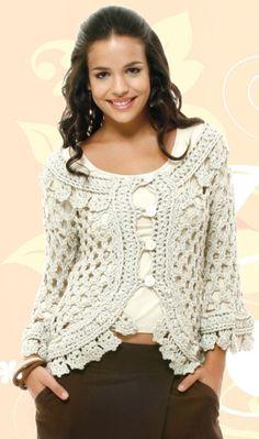 Exceptional Stitches Make a Crochet Hat Ideas. Extraordinary Stitches Make a Crochet Hat Ideas. Crochet Coat, Crochet Jacket, Crochet Cardigan, Crochet Clothes, Crochet Shrugs, Crochet Sweaters, Lace Cardigan, Moda Crochet, Free Crochet