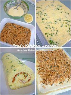 Fong's Kitchen Journal: Pork Floss Swiss Roll (肉松蛋糕卷)