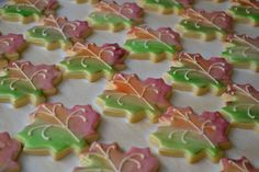 Hand Painted Fall Leaf Cookies