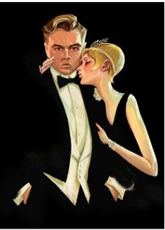 Leonardo DiCaprio and Carey Mulligan in Baz Luhrmann's The Great Gatsby. Illustration by Ron Kurniawan. The New Yorker Jay Gatsby, Gatsby Girl, Gatsby Style, Gatsby Book, Gatsby Movie, Isla Fisher, Carey Mulligan, Leonardo Dicaprio, The Great Gatsby Review