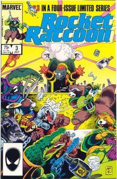 Rocket Raccoon, 1985, covers by Mike Mignola and Al Gordon