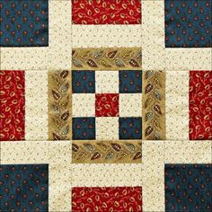 Civil War Quilts: Westering Women Block 1: Independence Square http://civilwarquilts.blogspot.nl/2016/01/westering-women-block-1-independence.html