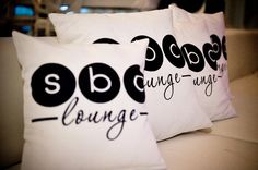 event lounge pillows inspired by LD designed monograms