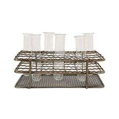 7-Pc. Out of the Lab Metal Rack and Test Tube Set | dotandbo.com