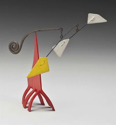 Alexander Calder (1898-1976) Six-Footed Beastie signed with artist's monogram 'CA' (on the base) standing mobile--sheet metal, wire and paint 7 x 7 x 2 in. (17.7 x 17.7 x 5 cm.) Executed circa 1960s.