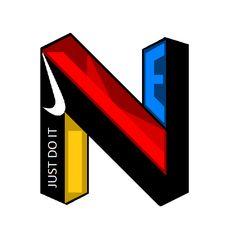Nike, new, 3d, logo.