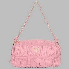Prada First Choice for The Season 8660L Single pink sheepskin drape shoulder bag