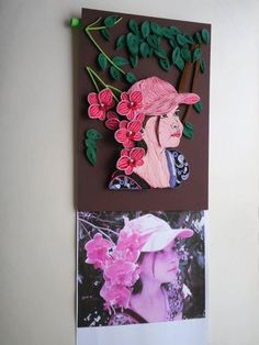 Top:-Quilled version of the girl in the photo at the bottom - by Simona Elena - FB Paper Quilling, Origami, Paper Crafts, Portraits, Amazing, Girls, Artist, Top, Quilling