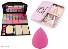 Checkout this latest Makeup Kits Product Name: *Premium Choice  Makeup Brush & Puff & Eyeshadow Kit Combo * Color: Multicolor Multipack: 3 Easy Returns Available In Case Of Any Issue   Catalog Rating: ★4 (3657)  Catalog Name: Premium Choice Makeup Brush & Puff & Eyeshadow Kit Combo Vol 8 CatalogID_531063 C51-SC1245 Code: 073-3789272-798