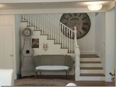 This would be what our staircase would look like when we relocate it to the back of the house.