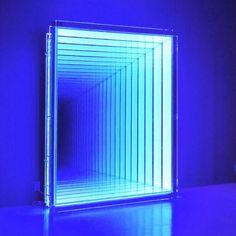 Images About LED-lights And Designs On Pinte. Neon Lighting, Lighting Design, Visual Lighting, Infinity Spiegel, Neon Bleu, Vitrine Design, Light Tunnel, Deco Led, Instalation Art