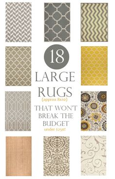 Large area rugs that won't break the budget.