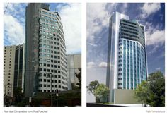 Estudo de viabilidade para retrofit de edificio comercial - Fachada desenvolvida pela Triplo R