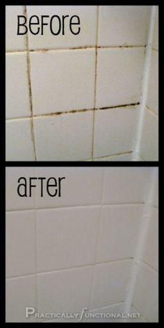 Cleaning Tip for this Week Clean Tile Grout With This Homemade Grout Cleaner Want a simple trick for cleaning grout in your shower, bath, or kitchen? This homemade grout cleaner works great and it only requires 2 ingredients: baking soda and bleach! Bathroom Cleaning Hacks, Household Cleaning Tips, Cleaning Recipes, House Cleaning Tips, Spring Cleaning, Grout Cleaning, Kitchen Cleaning, Cleaning Shower Tiles, Cleaning Mold