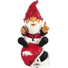Arkansas Razorbacks Gnome Sitting on a Logo