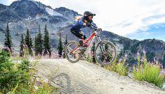 Downhill mountain biking in Whistler
