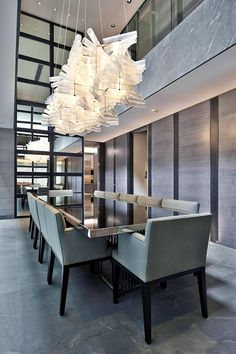 soft greys | formal contemporary dining room || MAYFAIR HOUSE (PART 1) | Bill…