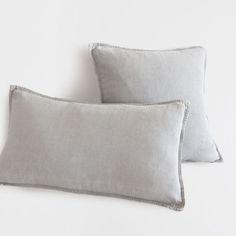 Light grey pillow with double stitching - Bedroom - ZARA HOME BASIC | Zara Home United Kingdom