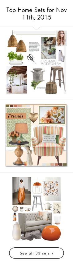 """""""Top Home Sets for Nov 11th, 2015"""" by polyvore ❤ liked on Polyvore featuring interior, interiors, interior design, home, home decor, interior decorating, Currey & Company, Dot & Bo, Shun and Zuo"""