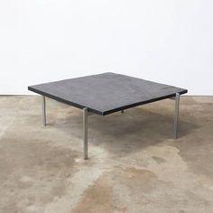1956, Poul Kjærholm Side Table, PK61 Coffee Table, Slate 2