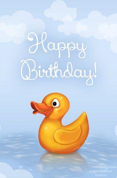 Happy Birthday Greeting card by Helen Netherfield