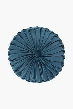 Velvet Round Scatter Cushion - Shop New In - Bed & Bath - Shop