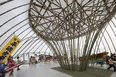 Ark of Bamboo by Toki Lab and Takahashi Kogyo ©Shinkenchiku-sha