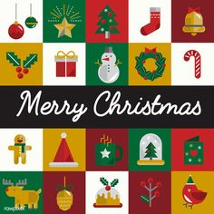 Christmas icons vector set Christmas Icons, Merry Christmas, Vector Christmas, Icon Set, Simple Canvas Paintings, Free Illustrations, Christmas Cookies, Free Images, Graphic Art
