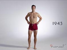 ¡Los trajes de baño se han transformado de manera increíble a través del tiempo! #Video #Moda #Man