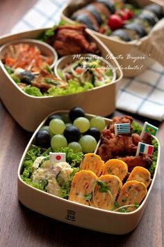 Bento boxes for picnic or party