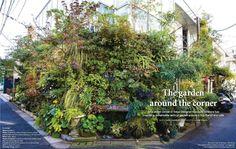 El Blog de La Tabla: Kaza Hana: jardín vertical en una esquina de Tokio