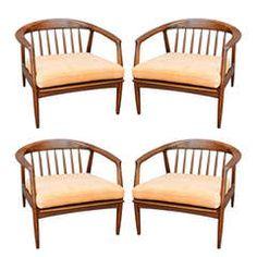 Set of Four Milo Baughman Lounge Chairs
