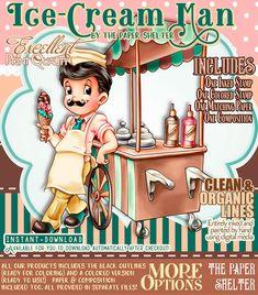 Ice-Cream Man - Digital Stamp