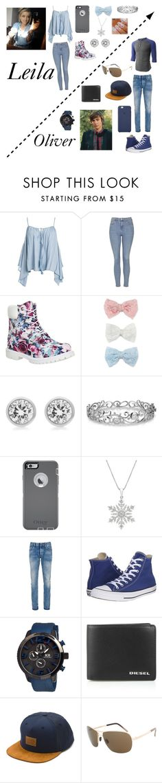 """""""Disney kids"""" by jazzywiggles ❤ liked on Polyvore featuring Sans Souci, Topshop, Timberland, Decree, Michael Kors, Effy Jewelry, OtterBox, LE3NO, Denham and Converse"""