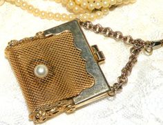 Vintage Pill Box Mesh Purse Shaped by RosePetalResources on Etsy, $28.00