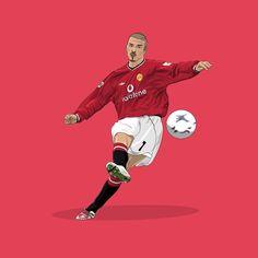 Football Tattoo, Football Art, Football Players, Football Player Drawing, Man Utd Fc, Manchester United Wallpaper, Lino Art, Legends Football, Manchester United Players
