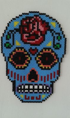 Mexican skull Hama Beads / Perle Beads by Leticreaciones on Etsy
