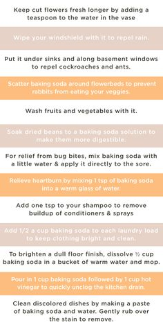 Uses for baking soda: the miracle worker