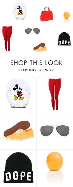 """dope mickey outfit"" by fashionqueen-cutie ❤ liked on Polyvore featuring Forever 21, Lee, Vans, Sheriff&Cherry, Funky Bling, Eos and Rebecca Minkoff"