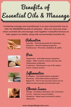 Benefits of Essential Oils and Massage