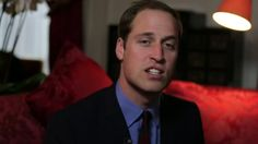 Prince William speaking about his charity