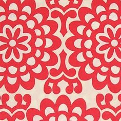 Amy Butler Fabric   Wallflower Cherry Red   1 by HomeGrownPillows, $8.25
