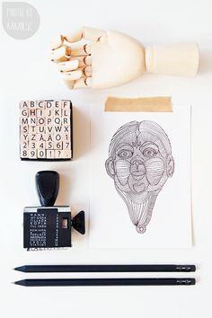Stilleben | Hay Hand, print, pencils #bywstudent