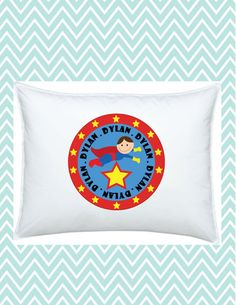 Super Hero Pillowcase Personalized for Kids, #funkymonkeythreads, #FMT