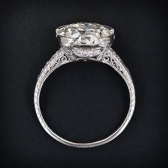 art deco engagment ring w/ 5.50 carat diamond