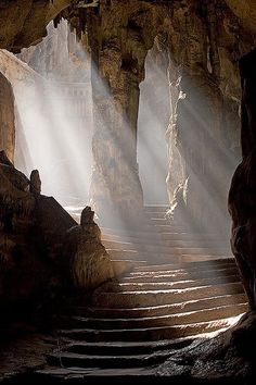 """Khao Luang Cave temple, Phetchaburi, Thailand by Craig Ferguson """