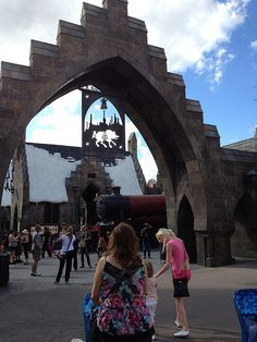 Entrance to the Wizarding World of Harry Potter at Island of Adventure Orlando FL