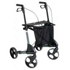 Andador Troja. Es práctico para usar tanto dentro como fuera de casa y es muy fácil de plegar. Ruedas firmes incluso cuando está plegado. Fantástico para viajar en coche, taxi, autobús o avión.