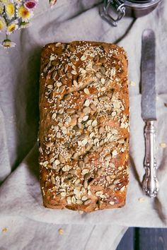 Grandma's Whole Wheat Sunflower Honey Oatmeal Bread is part of Whole Wheat bread - My Grandmother's homemade Honey Oat Bread made with whole wheat flour, sunflower seeds, honey, oats and flax Nutritious and wonderful toasted for breakfast Honey Oat Bread, Bread Machine Recipes, Flour Recipes, Whole Wheat Flour, Whole Wheat Bread, Artisan Bread, How To Make Bread, Bread Baking, Bread Food
