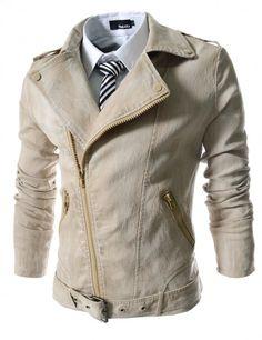 Doublju - Jaqueta Slim Skull Rider (KJ31) Compre roupas de qualidade 9e6daae6a55ac